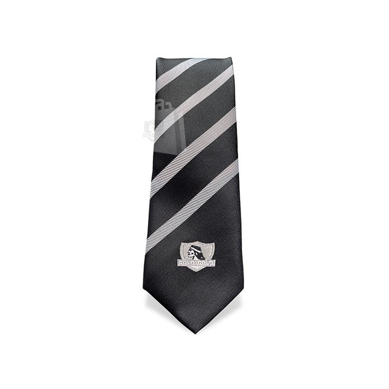 Corbata Colo-Colo Negra Rayas 6cm