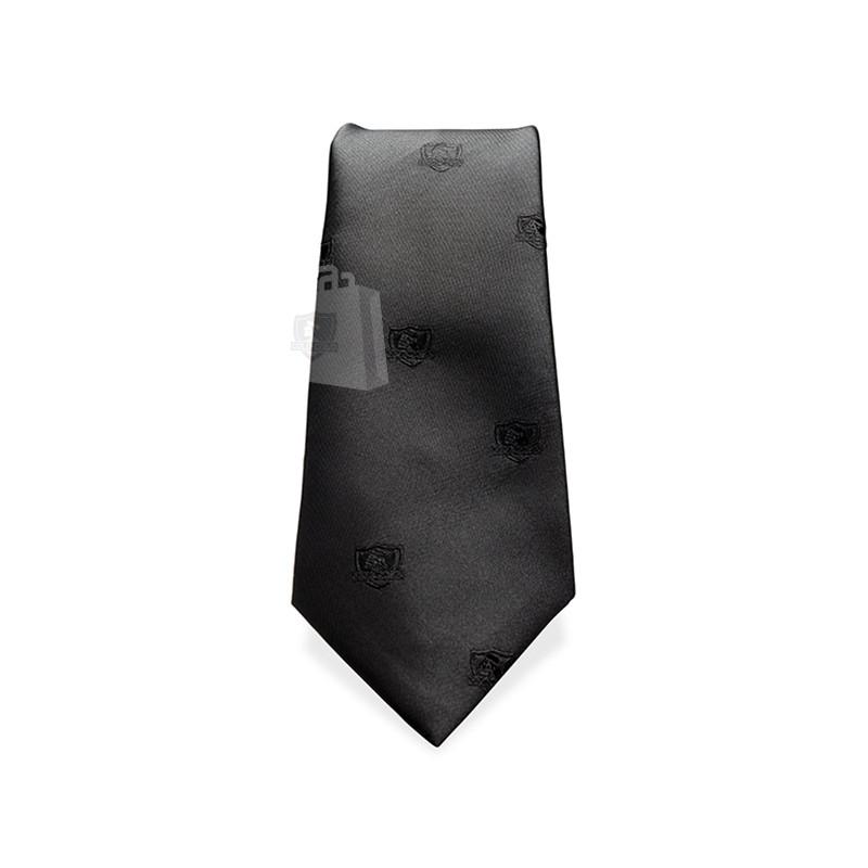 Corbata Colo-Colo Logos Negros 8cm