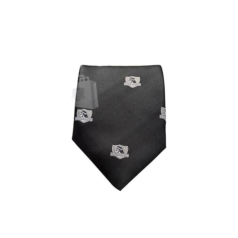Corbata Colo-Colo Logos Grises 8cm