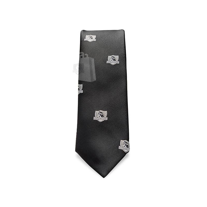 Corbata Colo-Colo Logos Grises 6cm