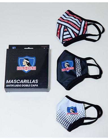 Pack 3 mascarillas Colo Colo modelo...