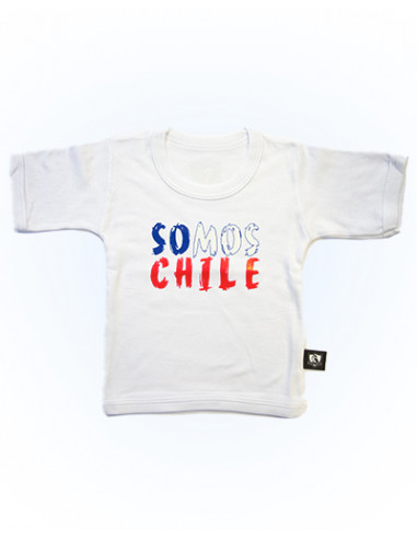 """Polera blanca """"Somos Chile"""""""